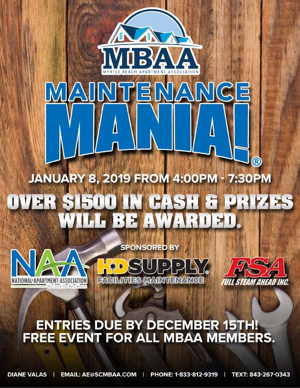 MBAA Maintenance Mania Flyer 2019