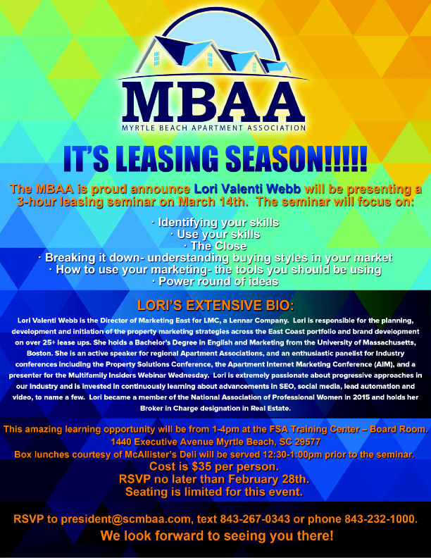 MBAA March Leasing Seminar Flyer